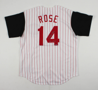 "Pete Rose Signed Reds Jersey Inscribed ""Hit King"" (Sports Integrity COA) at PristineAuction.com"