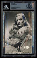 Veronica Lake Signed 3.5x5.5 Postcard (BGS Encapsulated) at PristineAuction.com
