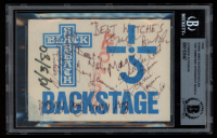 "Black Sabbath Backstage Pass Signed by (5) with Ronnie James Dio, Geezer Butler, Tony Iommi, Vinny Appice & Geoff Nicholls Inscribed ""Best Wishes"" (BGS Encapsulated) at PristineAuction.com"