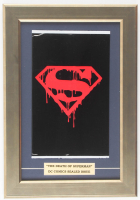 "1992 ""Superman"" 11.5x16.5 Custom Framed Issue #75 DC Comic Book Black Bag Collector's Set Display at PristineAuction.com"