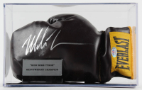 Mike Tyson Signed Vintage Everlast Boxing Glove with Display Case (PSA Hologram) at PristineAuction.com