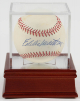 Eddie Mathews Signed ONL Baseball with Display Case (PSA COA) at PristineAuction.com