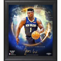 """Zion Williamson Pelicans 15x17 Custom Framed Fanatics """"Stars of the Game Collage"""" Print at PristineAuction.com"""
