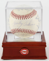 1972 Cincinnati Reds ONL Baseball Team-Signed by (16) with Tony Perez, Sparky Anderson, Joe Morgan, George Foster, Ted Kluszewski, Julian Javier with Display Case (PSA LOA) at PristineAuction.com