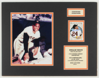 Willie Mays Signed Giants 14x18 Custom Matted Display (JSA COA) at PristineAuction.com