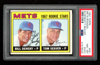 Bill Denehy RC / Tom Seaver RC 1967 Topps #581 Rookie Stars (PSA 8) (OC) at PristineAuction.com