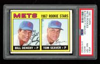 Bill Denehy RC / Tom Seaver RC 1967 Topps #581 Rookie Stars (PSA 8) (OC) at PristineAuction.com