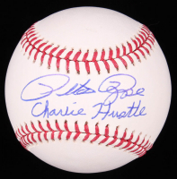 "Pete Rose Signed OML Baseball Inscribed ""Charlie Hustle"" (Fiterman Sports Hologram) at PristineAuction.com"