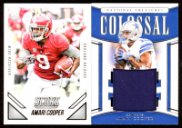 Lot of (2) Amari Cooper Cards with 2015 Score #408 RC & 2019 Panini National Treasures Colossal Materials #1 at PristineAuction.com