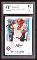Bryce Harper 2011 Bowman Prospects #BP1A (BCCG 10) at PristineAuction.com