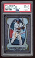 Wander Franco 2019 Bowman Chrome Bowman Sterling Continuity #BS10 (PSA 10) at PristineAuction.com