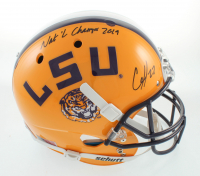 "Clyde Edwards-Helaire Signed LSU Tigers Full-Size Helmet Inscribed ""Nat'l Champs 2019"" (Beckett Hologram) at PristineAuction.com"