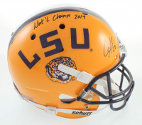 """Clyde Edwards-Helaire Signed Full-Size Helmet Inscribed """"Nat'l Champs 2019"""" (Beckett COA) at PristineAuction.com"""