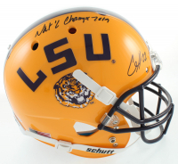 """Clyde Edwards-Helaire Signed LSU Tigers Full-Size Helmet Inscribed """"Nat'l Champs 2019"""" (Beckett COA) at PristineAuction.com"""
