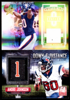 Lot of (2) Andre Johnson Cards with 2014 Elite Down & Distance First #16 & 2006 Leaf Rookies & Stars Standing Ovation Materials #21 at PristineAuction.com
