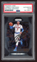 Carmelo Anthony Signed 2017-18 Panini Prizm #279 (PSA Encapsulated) at PristineAuction.com