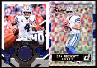 Lot of (2) Dak Prescott Cards with 2016 Donruss Optic The Rookies #7 &  2018 Elite Craftsman Jerseys #4 at PristineAuction.com