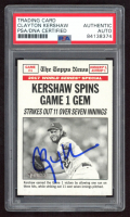 Clayton Kershaw Signed 2018 Topps Heritage #162 (PSA Encapsulated) at PristineAuction.com