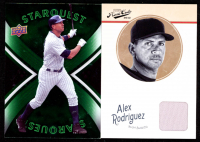 Lot of (2) Alex Rodriguez Cards with 2008 Upper Deck StarQuest Uncommon #33 & 2012 Prime Cuts #5 Jersey at PristineAuction.com