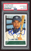 Ichiro Suzuki Signed 2001 Topps Gallery #151B Japan RC (PSA Encapsulated) at PristineAuction.com