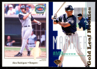 Lot of (2) Alex Rodriguez Cards with 1995 Leaf Gold Rookies #1 & 2003 Fleer Splendid Splinters Wood #7 at PristineAuction.com