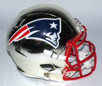 Tom Brady Signed Patriots Full-Size Chrome Speed Helmet (Tristar Hologram & Steiner Hologram) (See Description) at PristineAuction.com