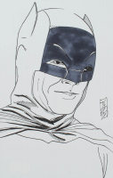 "Tom Hodges - Batman - Adam West - DC Comics - Signed ORIGINAL 5.5"" x 8.5"" Drawing on Paper (1/1) at PristineAuction.com"