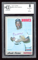 Hank Aaron 1970 Topps #500 (BCCG 8) at PristineAuction.com