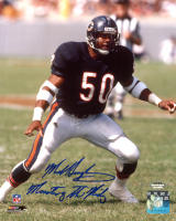 """Mike Singletary Signed Bears 8x10 Photo Inscribed """"Monsters Of The Midway"""" (Schwartz Sports COA) at PristineAuction.com"""