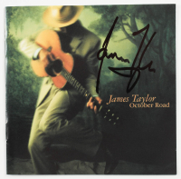 "James Taylor Signed ""October Road"" CD Album (JSA COA) at PristineAuction.com"