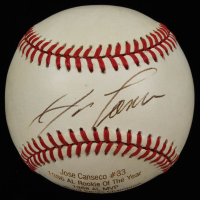 Jose Canseco Signed LE OAL Career Stat Engraved Baseball (JSA COA) at PristineAuction.com