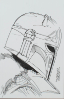 "Tom Hodges - The Armorer - ""Star Wars"" - Signed ORIGINAL 5.5"" x 8.5"" Drawing on Paper (1/1) at PristineAuction.com"