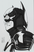 "Tom Hodges - Batman - Christian Bale - DC Comics - Signed ORIGINAL 5.5"" x 8.5"" Drawing on Paper (1/1) at PristineAuction.com"