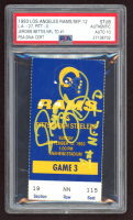 "Jerome Bettis Signed Authentic 1993 Ticket Inscribed ""1st NFL TD"" (PSA Encapsulated) at PristineAuction.com"