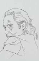 "Tom Hodges - The Joker - Joaquin Phoenix - ""Batman"" - DC Comics - Signed ORIGINAL 5.5"" x 8.5"" Drawing on Paper (1/1) at PristineAuction.com"