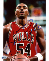 Horace Grant Signed Bulls 8x10 Photo (Beckett COA) at PristineAuction.com