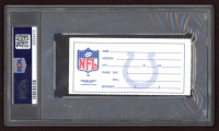 """Marshall Faulk Signed Authentic 1994 Ticket Inscribed """"NFL Debut"""" & """"1st TD"""" (PSA Encapsulated) at PristineAuction.com"""