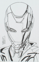 "Tom Hodges - Rescue - ""Iron Man"" - Marvel Comics - Signed ORIGINAL 5.5"" x 8.5"" Drawing on Paper (1/1) at PristineAuction.com"