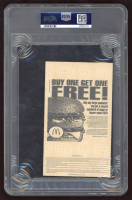 """Hines Ward Signed 1999 Ticket Inscribed """"1st NFL TD"""" (PSA Encapsulated) at PristineAuction.com"""