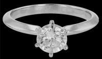 Tiffany & Co. 1.01ct Diamond Solitaire Engagement Ring Platinum (GIA Certified) at PristineAuction.com