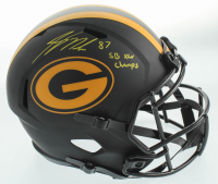 """Jordy Nelson Signed Packers Full-Size Eclipse Alternate Speed Helmet Inscribed """"SB XLV Champs"""" (JSA Hologram) at PristineAuction.com"""