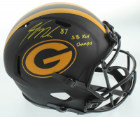 """Jordy Nelson Signed Packers Full-Size Eclipse Alternate Speed Helmet Inscribed """"SB XLV Champs"""" (JSA COA) at PristineAuction.com"""