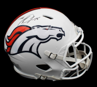 Melvin Gordon Signed Broncos Full-Size Authentic On-Field Matte White Speed Helmet (Radtke COA) at PristineAuction.com