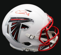 Calvin Ridley Signed Falcons Full-Size Matte White Authentic On-Field Speed Helmet (JSA COA) at PristineAuction.com