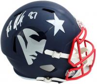 Rob Gronkowski Signed Patriots Full-Size AMP Alternate Speed Helmet (Radtke COA) at PristineAuction.com