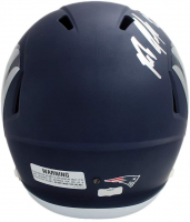 Rob Gronkowski Signed Patriots Full-Size AMP Alternate Speed Helmet (Radtke COA) at PristineAuction.com