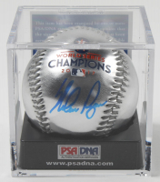 Nolan Ryan Signed 2017 World Series Champions Silver Baseball with Display Case (PSA COA - Graded 10) at PristineAuction.com