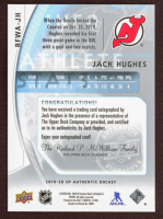 Jack Hughes 2019-20 SP Authentic '09-10 Retro Future Watch Autographs #RFWAJH at PristineAuction.com