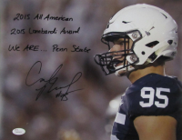 Carl Nassib Signed Penn State Nittany Lions 11x14 Photo with (3) Inscriptions (JSA COA) at PristineAuction.com