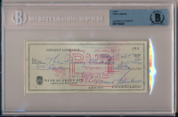 Vince Lombardi Signed 1964 Personal Check (BGS Encapsulated) at PristineAuction.com